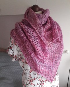 A shawl I knitted for my Mum, no pattern.