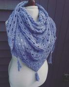 crochet shawl knit craft plain cotton blend