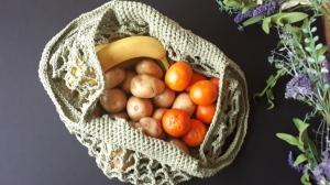 crochet market mesgh bag